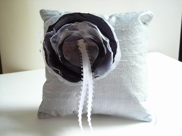 Dupioni Silk Ring Bearer's Pillow - Customizable in your own wedding colors
