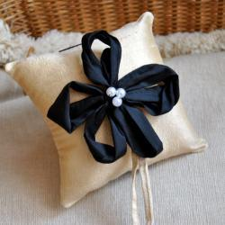 Bianca Dupioni Silk Ring Bearer&#039;s Pillow - Customizable in your own wedding colors