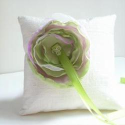 Dupioni Silk Ring Bearer&#039;s Pillow - Customizable in your own wedding colors